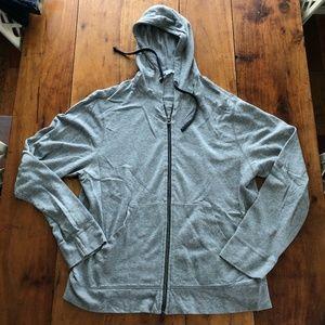 James Perse Hooded Zip Sweatshirt